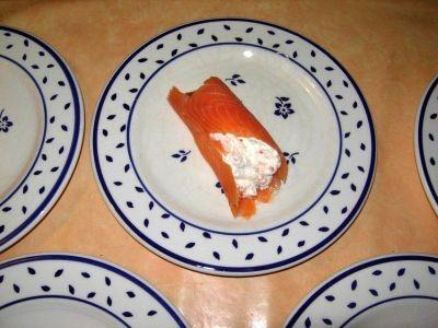 Cannellonis de saumon fumé au caviar