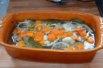 Filets de maquereaux au muscadet et aromates