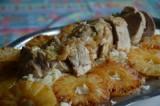 Filet mignon de porc à l'ananas et riz