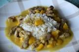 Wok de porc à la mangue